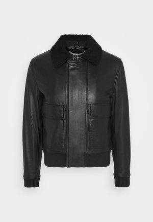 VOLF - Leather jacket - black