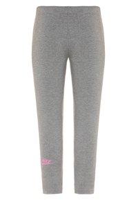 Nike Sportswear - AIR FAVORITES - Leggings - carbon heather/magic flamingo - 1