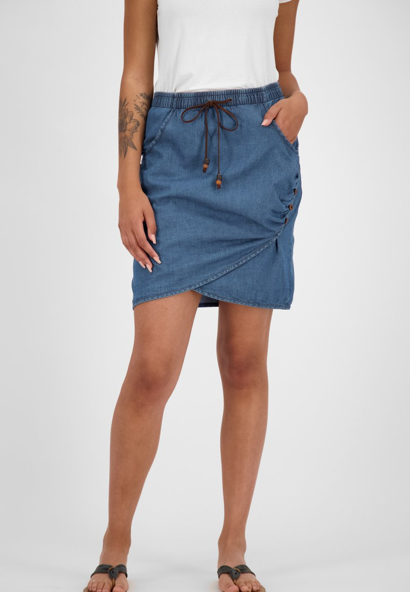 alife & kickin - LUCYAK  - Wrap skirt - denim