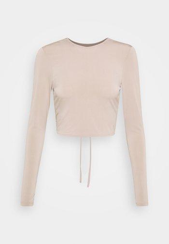 EFFORTLESS CRISS CROSS  - Long sleeved top - beige