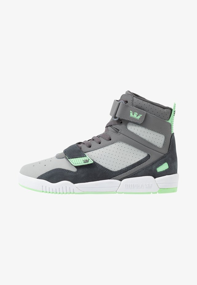 BREAKER - High-top trainers - grey/mint/white