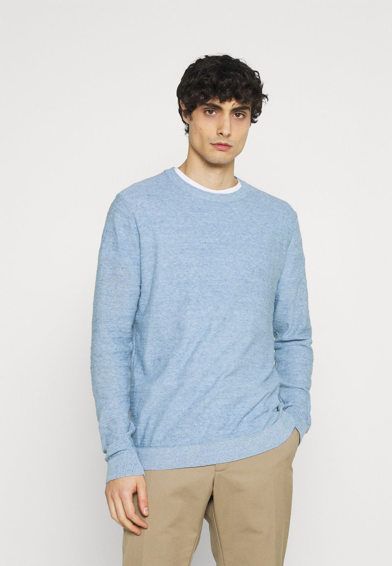 Selected Homme - SLHBUDDY CREW NECK - Jumper - skyway