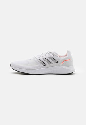 RUNFALCON 2.0 - Zapatillas de running neutras - footwear white/silver metallic/solar red