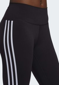 adidas Performance - BELIEVE THIS 3 STRIPES LEGGINGS - 3/4 sportovní kalhoty - black - 5