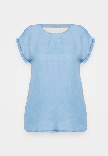 TUNIC WITH BACK DETAIL - Blouse - light stone bright blue denim