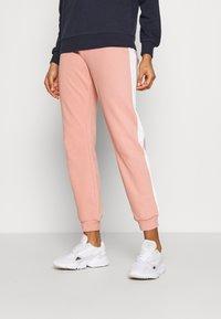 ONLY - ONLASHLEY PANTS - Pantalones deportivos - rose dawn/rose/ apple butter - 0