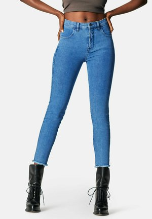 CROPPED HIGH RISE - Jeans Skinny Fit - crushed blue
