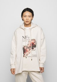 Mother of Pearl - PRINTED HOODIE WITH THICK - Mikina skapucí - oatmeal - 0