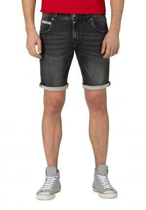 SCOTTYTZ - Denim shorts - black scrub wash