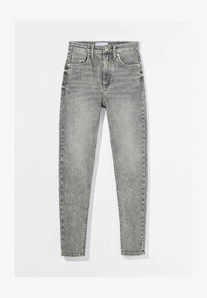 SUPER HIGH WAIST - Slim fit jeans - grey