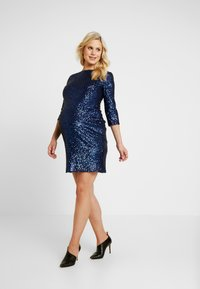 TFNC Maternity - EXCLUSIVE PARIS DRESS - Cocktail dress / Party dress - navy - 1