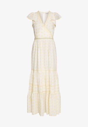 LISLAND R1 - Maxi dress - ecru/jaune epis