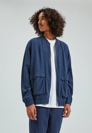 Blouson Bomber - dark-blue denim