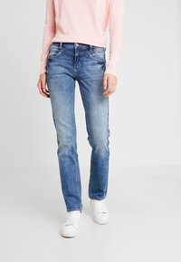 TOM TAILOR - ALEXA - Straight leg jeans - mid stone wash denim blue - 0