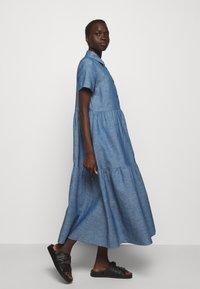 HUGO - ENNISH - Košilové šaty - medium blue - 4
