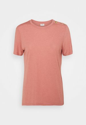 LONDON LIFE BUTTON - Basic T-shirt - old rose