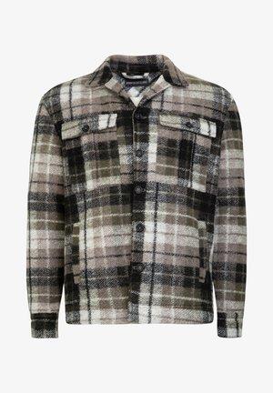 ROONIN - Shirt - green/black/beige