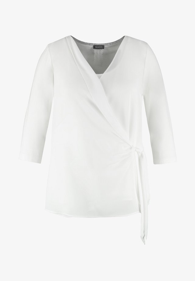 RUNDHALS - Blouse - offwhite