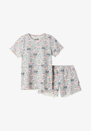 Pyjama set - grigio mel.chiaro st.pink pant