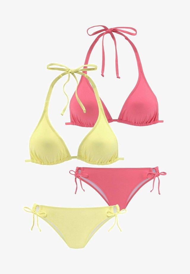 2 PACK - Bikini - hellgelb koralle