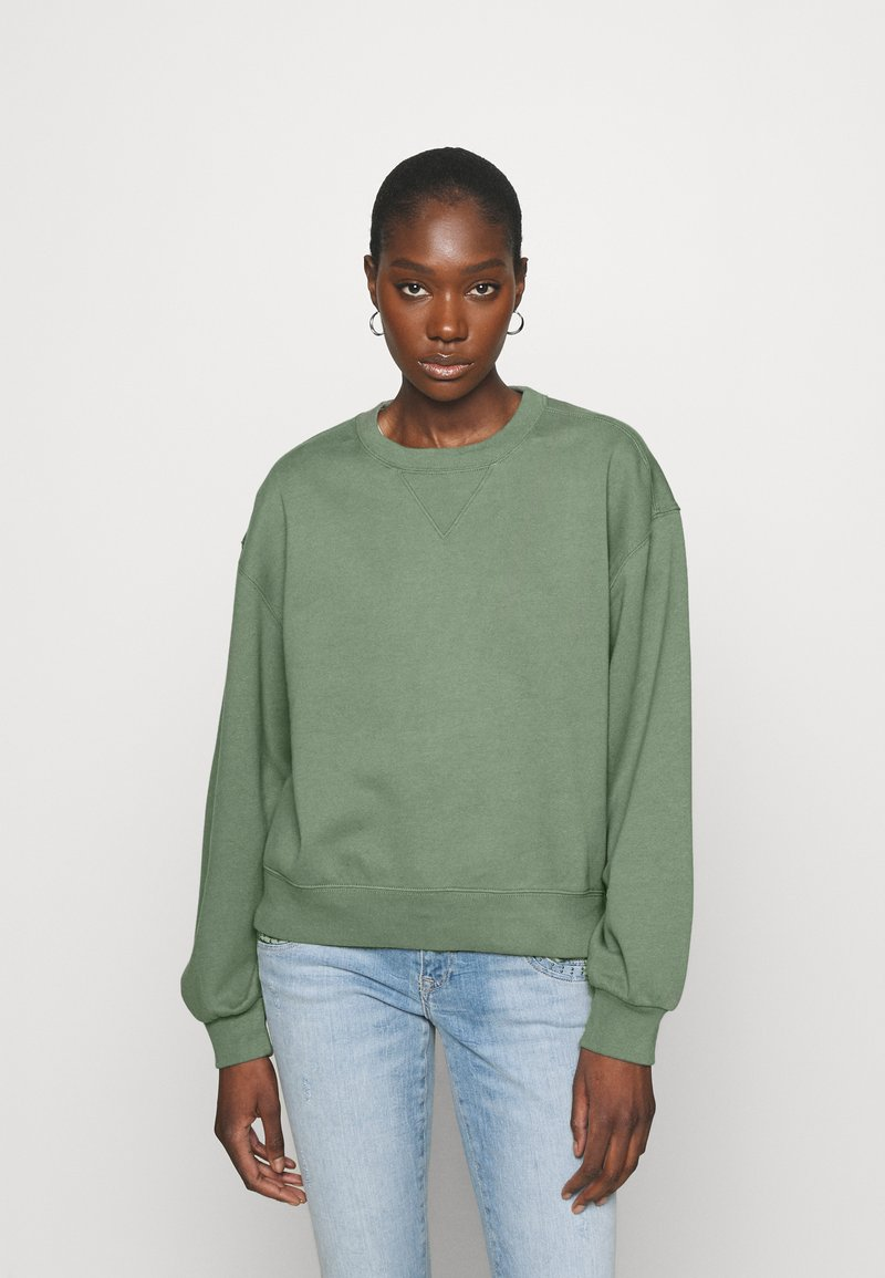 Abercrombie & Fitch - CREW - Sweatshirt - green