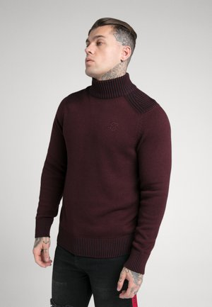 TURTLE NECK JUMPER - Trui - burgundy