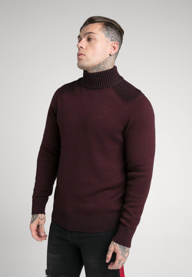 TURTLE NECK JUMPER - Maglione - burgundy