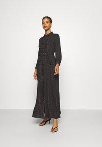 YAS - YASSAVANNA BELT ANKLE DRESS - Maxi dress - black/light taupe - 0