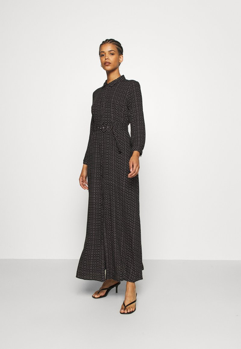 YAS - YASSAVANNA BELT ANKLE DRESS - Maxi dress - black/light taupe