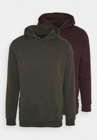 Burton Menswear London - HOOD 2 PACK - Hoodie - bordeaux - 5