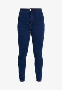 Missguided Petite - VICE HIGHWAISTED - Jeans Skinny Fit - dark blue - 3