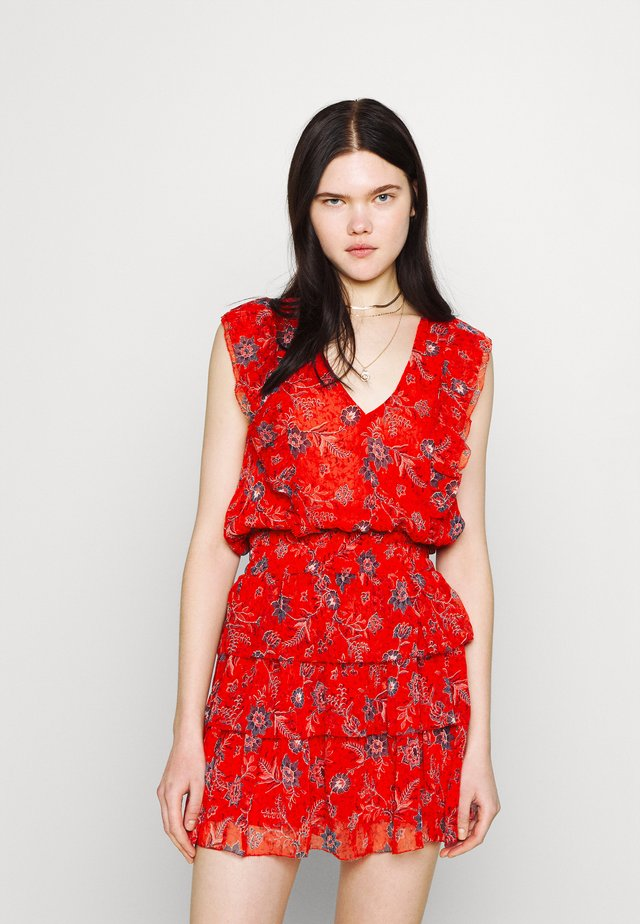 MARIETAS - Korte jurk - mars red