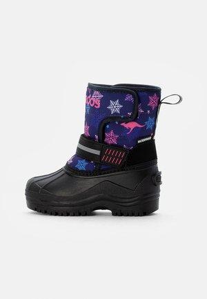 SHELL - Zimní obuv - dark navy/snowflake