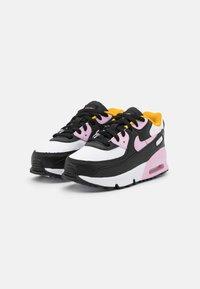 Nike Sportswear - AIR MAX 90 UNISEX - Tenisky - black/light arctic pink/white/dark sulfur - 1