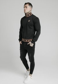 SIKSILK - DISTINCTION JACQUARD ZIP THROUGH TRACK - Cardigan - black - 1