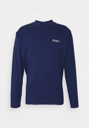 TEE WITH CONTRAST EMBROIDERED LOGO - Long sleeved top - patriot blue