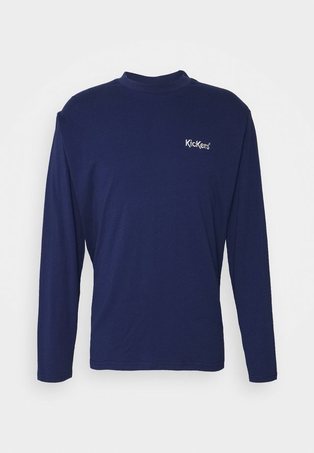 TEE WITH CONTRAST EMBROIDERED LOGO - Långärmad tröja - patriot blue
