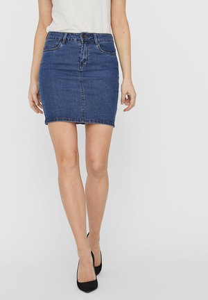 VMHOT SEVEN SKIRT - Denim skirt - medium blue denim