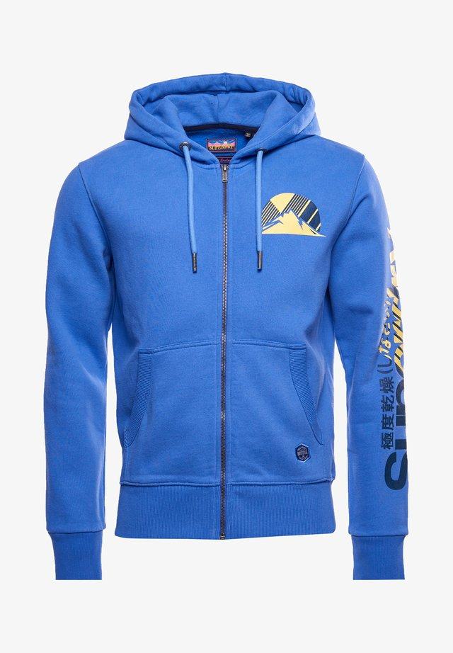 HERITAGE MOUNTAIN GRAPHIC - veste en sweat zippée - chambray blue