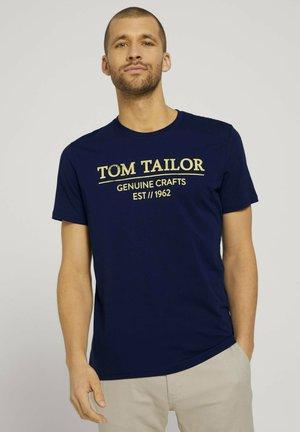 T-shirt print - azur blue denim