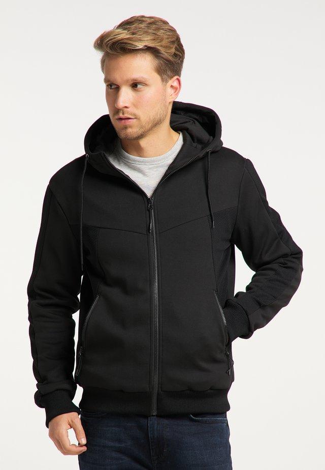 veste en sweat zippée - schwarz schwarz