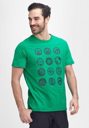 MASSONE - Print T-shirt - light emerald