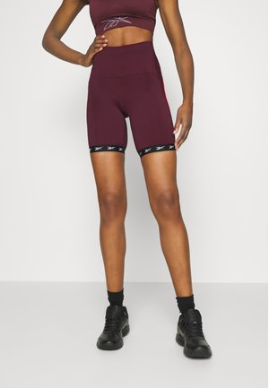 BIKE SHORT - Punčochy - maroon