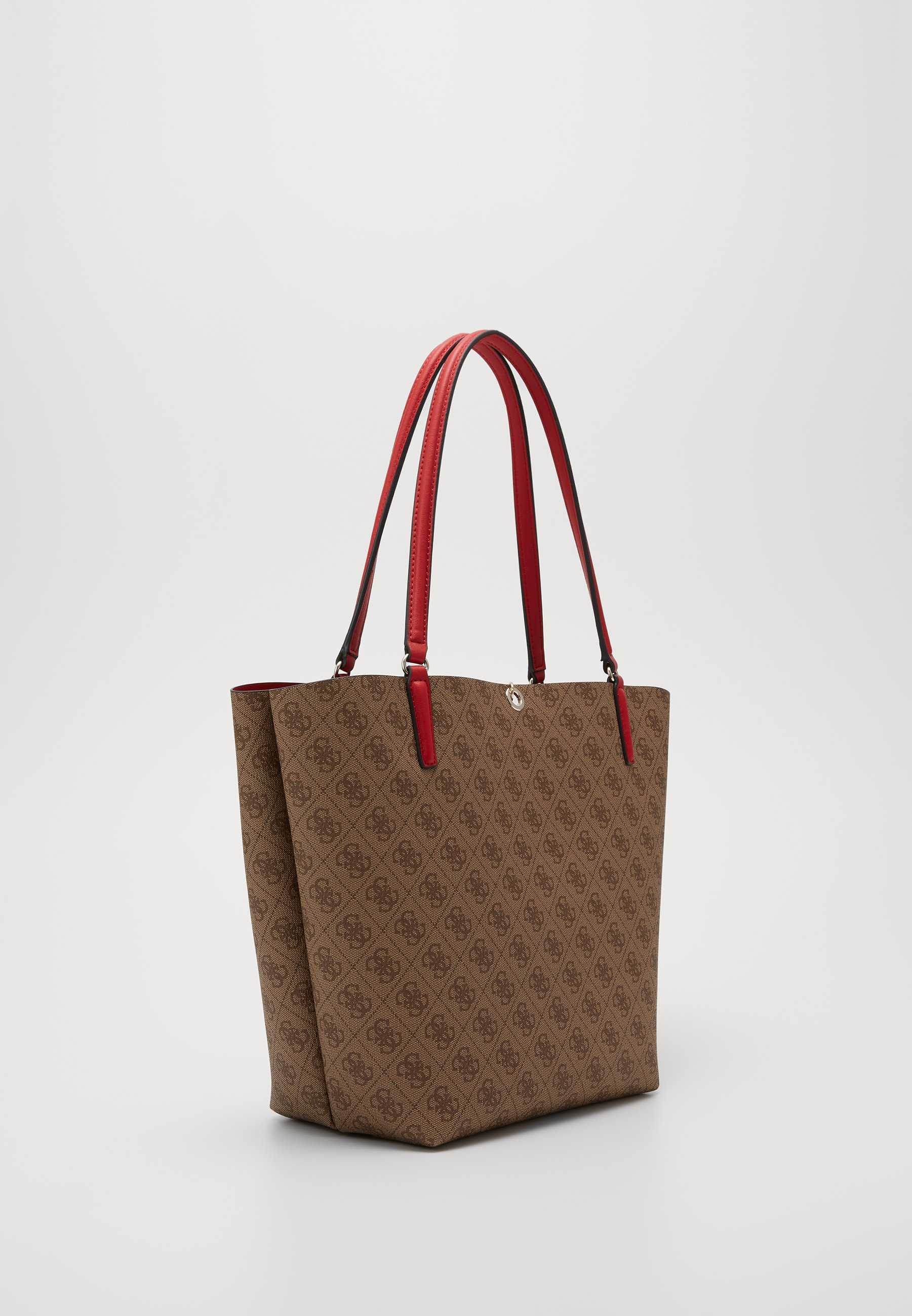 Guess Alby Toggle Tote Set - Shopping Bag Brown/cherry/braun