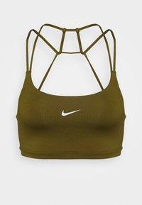 Nike Performance - INDY BRA NON PAD - Light support sports bra - olive flak/white - 5