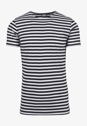 STRIPE - T-shirt print - asphalt/black