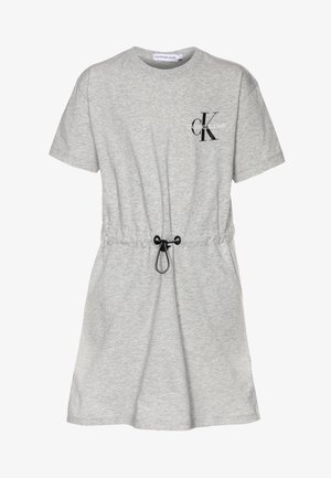 SMALL MONOGRAM DRESS - Žerzejové šaty - grey