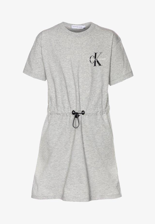 SMALL MONOGRAM DRESS - Jersey dress - grey