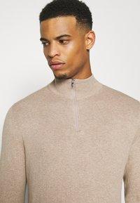 Burton Menswear London - CORE HALF ZIP - Trui - ecru - 3