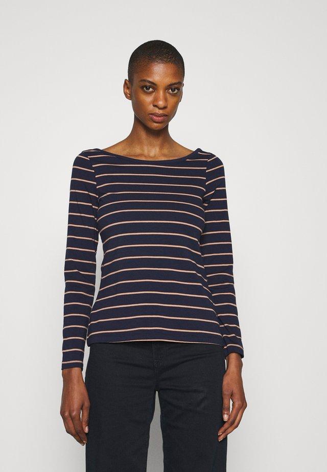 Camiseta de manga larga - dark blue/camel